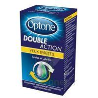 Optone Double Action Solution Oculaire Yeux Irrités Fl/10ml à AUCAMVILLE