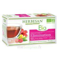 Herbesan Hibiscus Bio Tisane élimination 20 Sachets à AUCAMVILLE