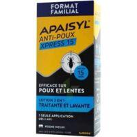Apaisyl Anti-poux Xpress 15' Lotion antipoux et lente 100ml+peigne à AUCAMVILLE